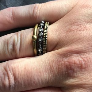 Silpada stacking rings size 9